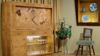 Modernist style cabinet.
