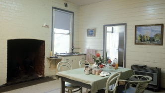 The kitchen at Europambela, Walcha, NSW