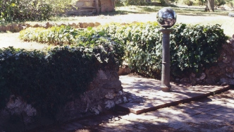 Gazing globe in the garden at Kelburn, Goulburn NSW