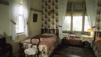 The main bedroom at Kurkulla, Bowral NSW