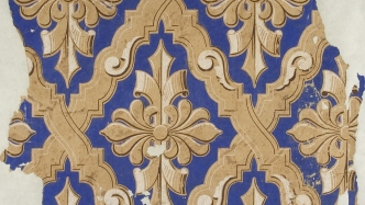 Pyrmont wallpaper fragment, c1850