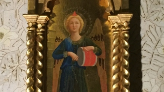 Gilded painting panel.