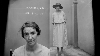 Ethel Violet May Benn, Special photograph number 1188, 9 April 1923, probably Central Police Court, Sydney