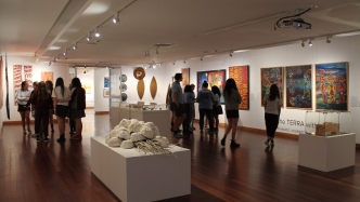 Interior view of gallery space.