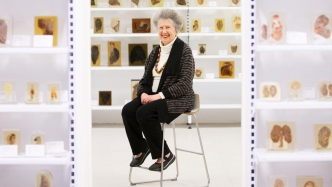 Elinor Wrobel, curator of the Lucy Osburn - Nightingale Foundation Museum.