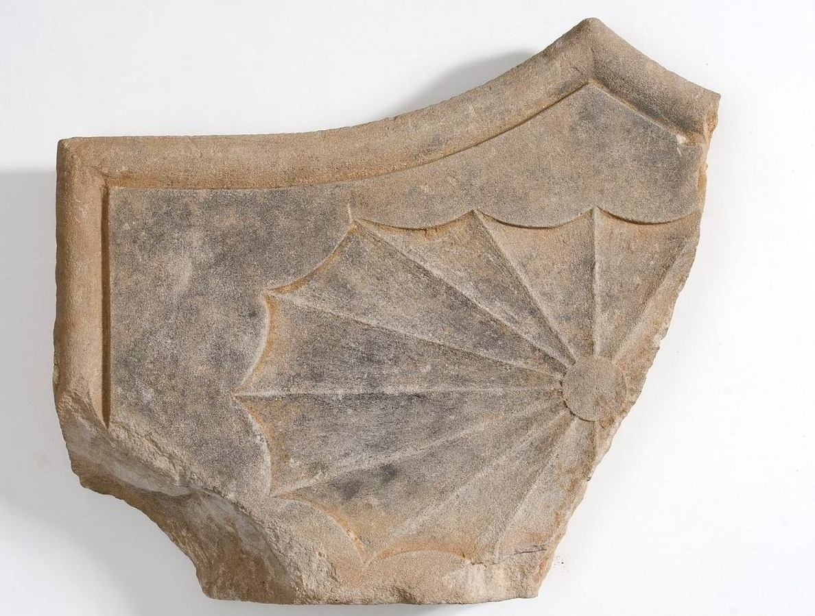 Fragment of sandstone from First Government House. Museum of Sydney archaeology collection.