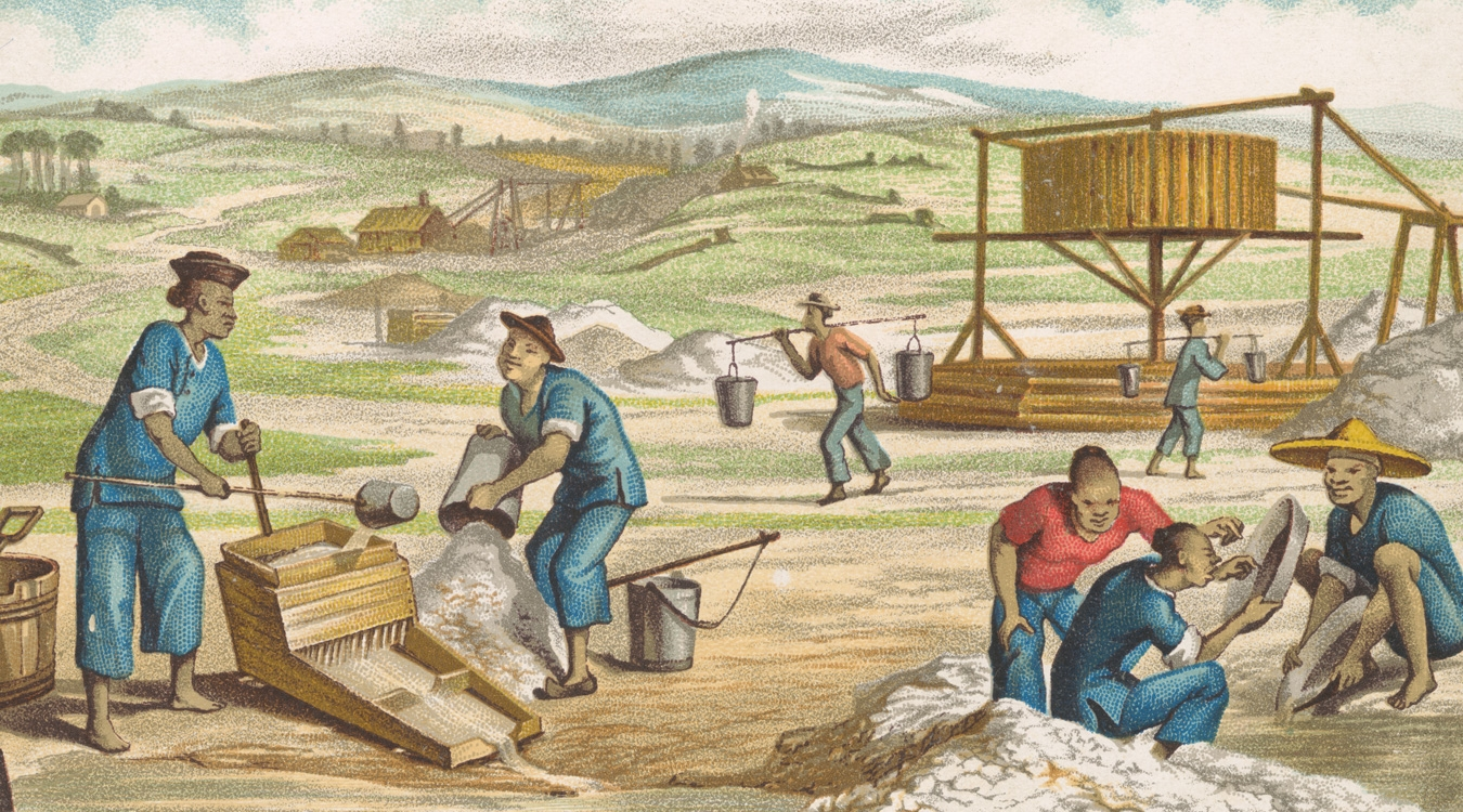 Washing tailings (detail)