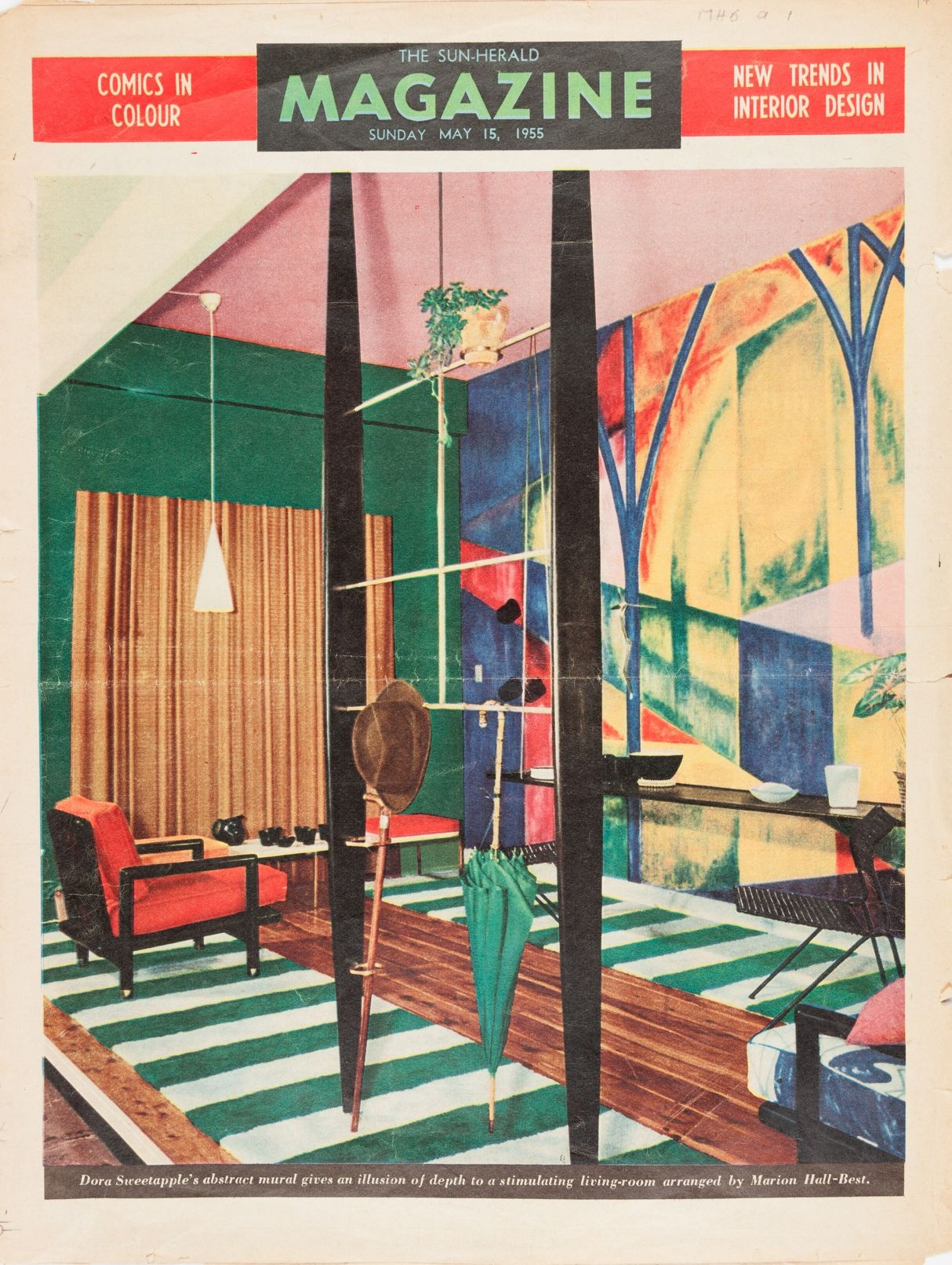 'New trends in interior design', 1955