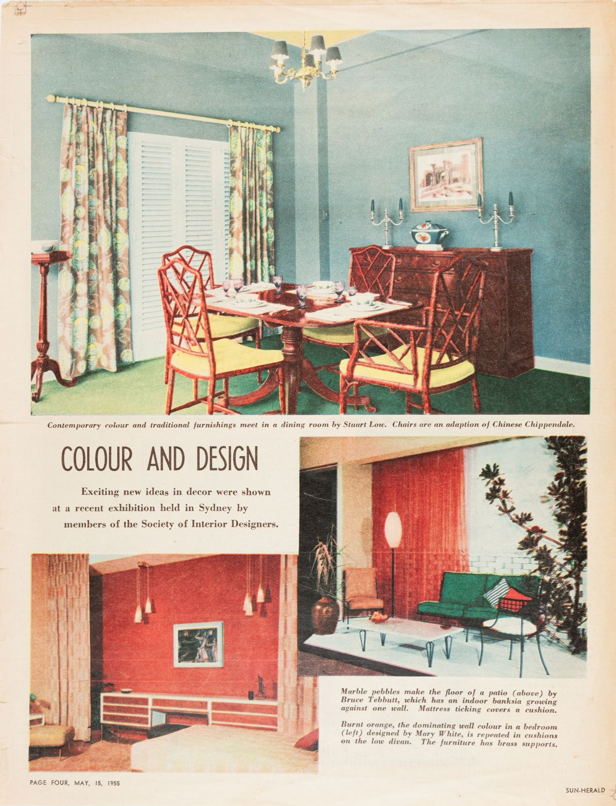 Society of Interior Designers (SID) exhibition, 1955