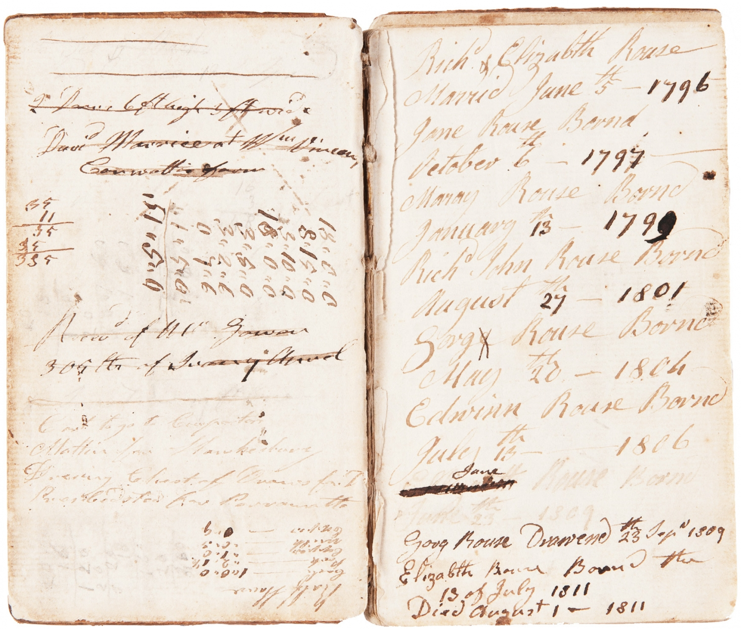 Richard Rouse and Rouse family papers: 1792-1849 (Lidstone collection)