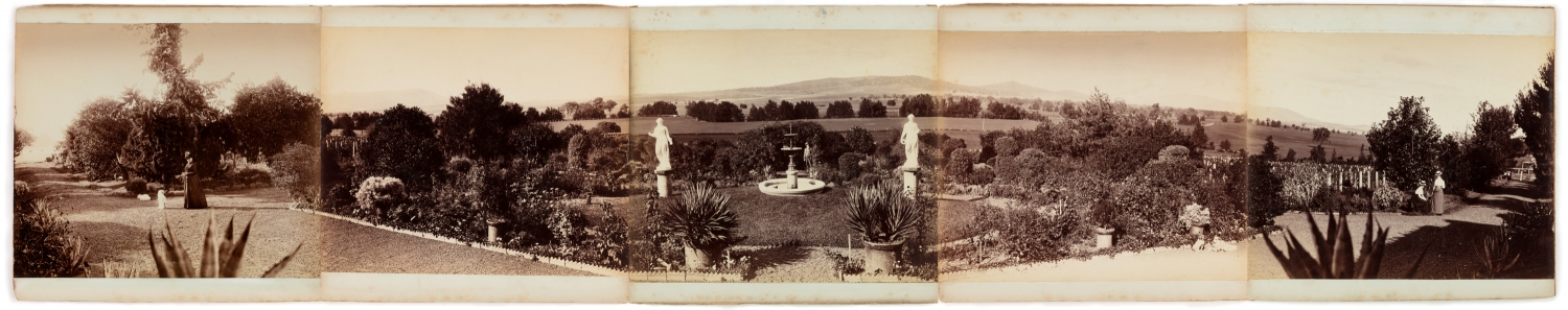 Five part photographic panorama of Turanville near Scone / photographed by Joseph Check, 1889