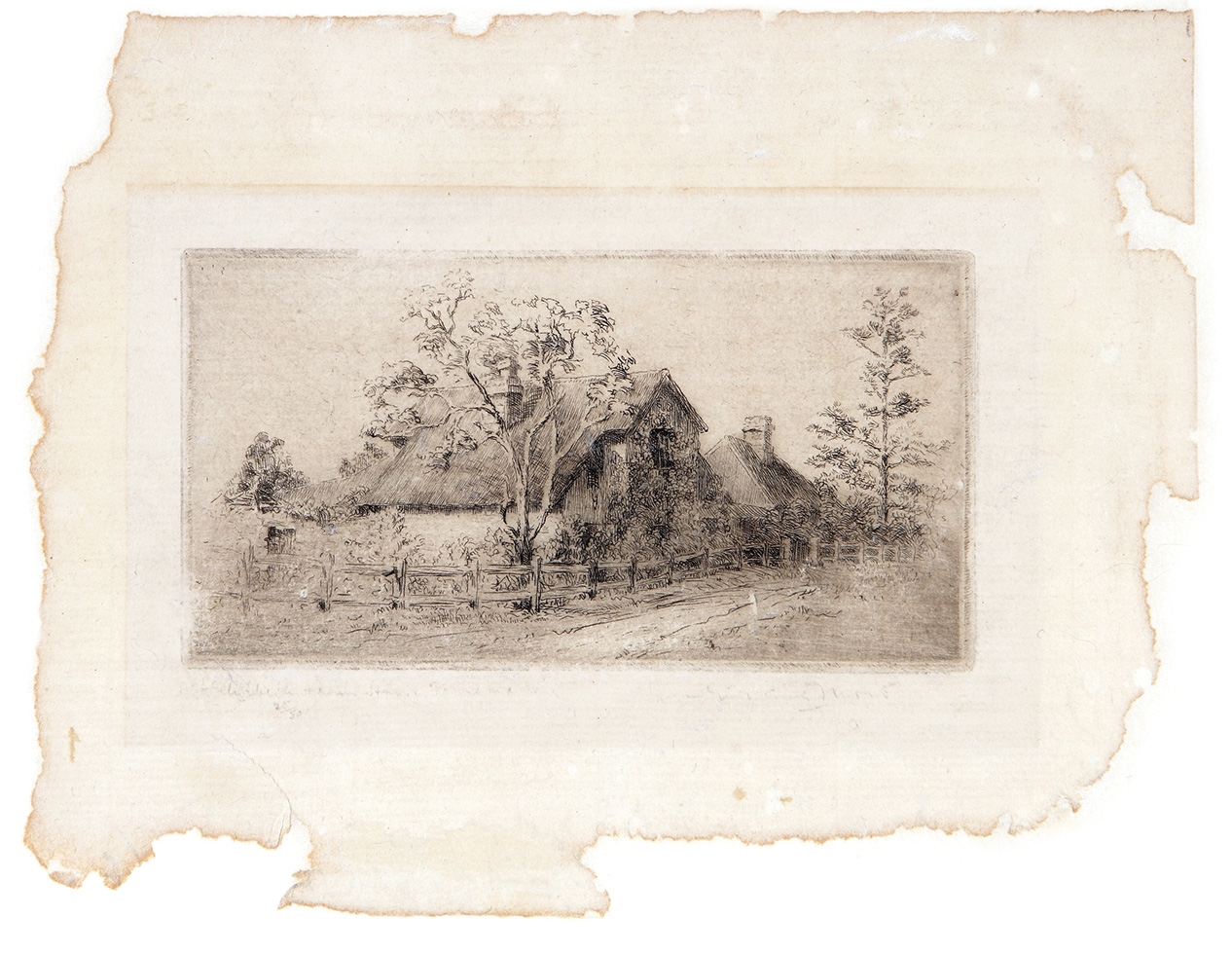 Fragment of paper with print on it.