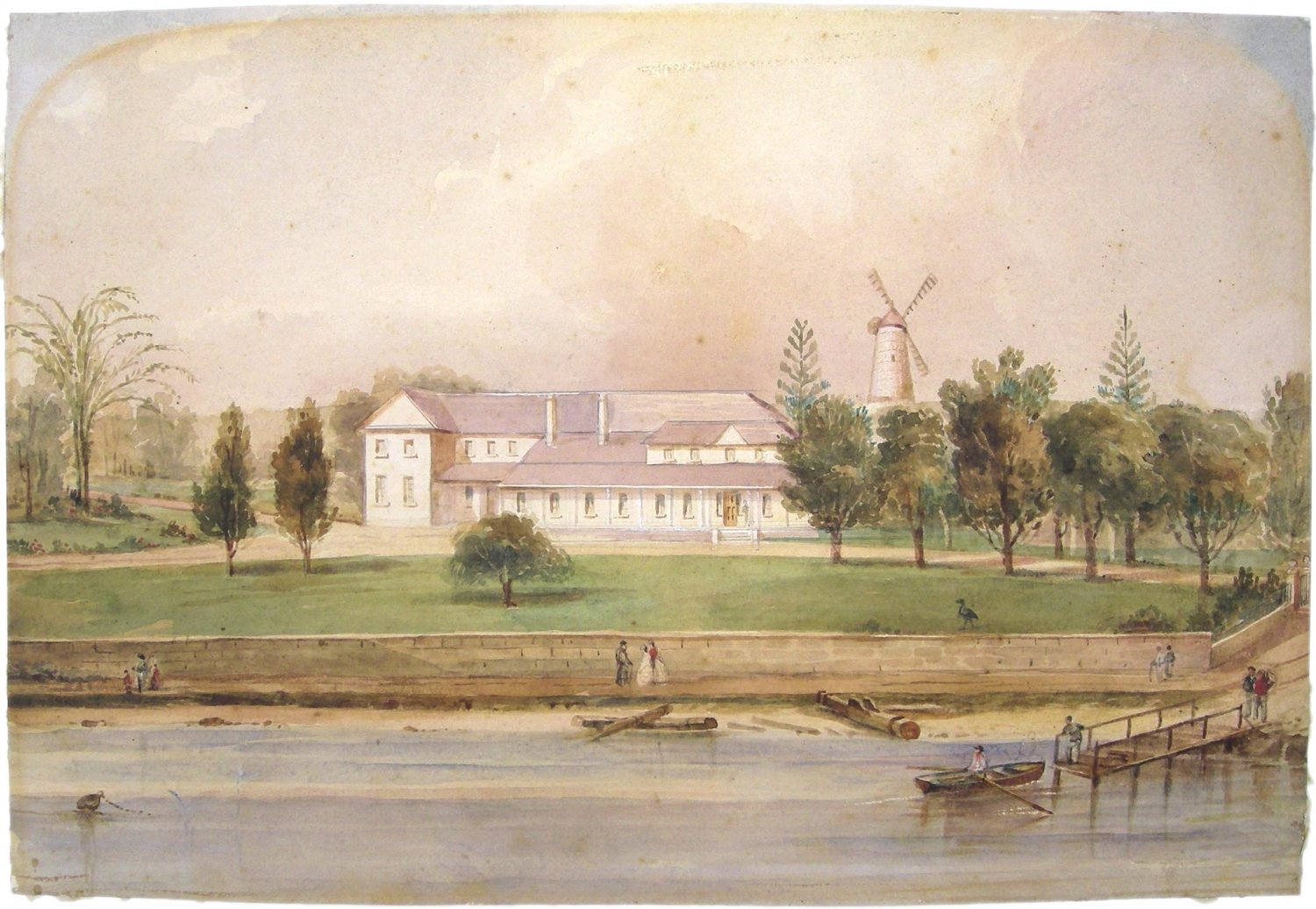 Painting of old Government House, c1840.