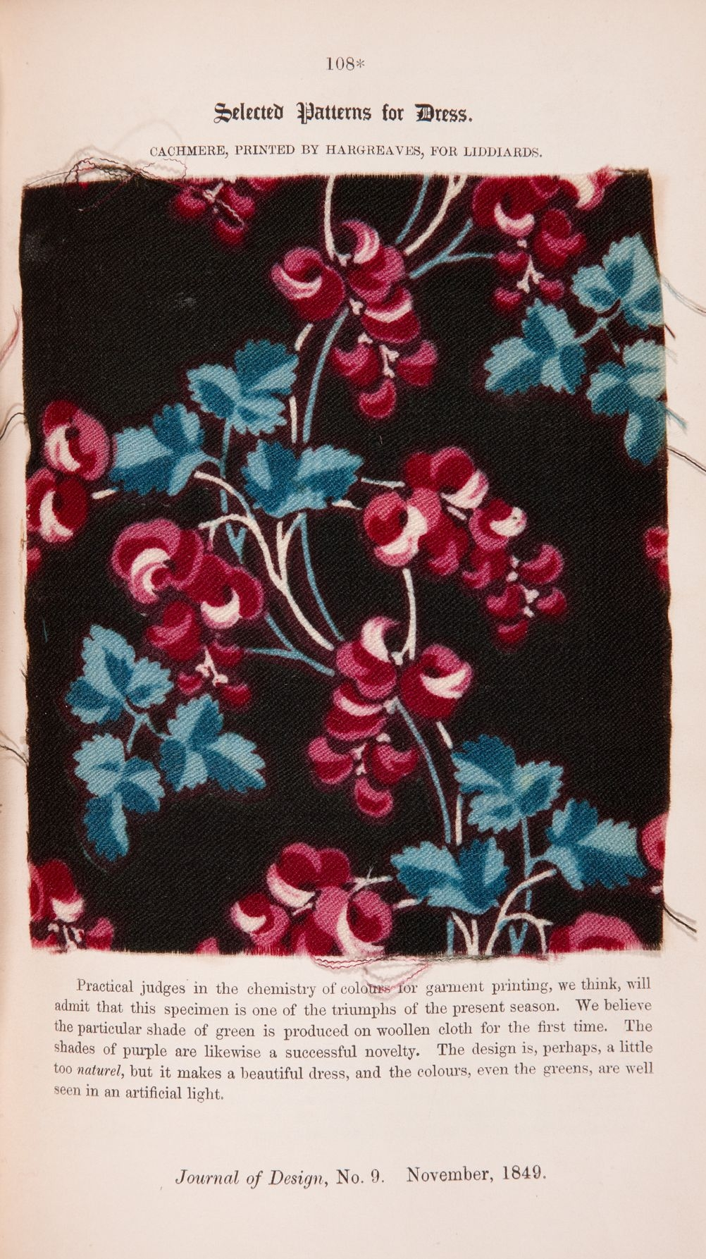 Textile sample from Journal of Design