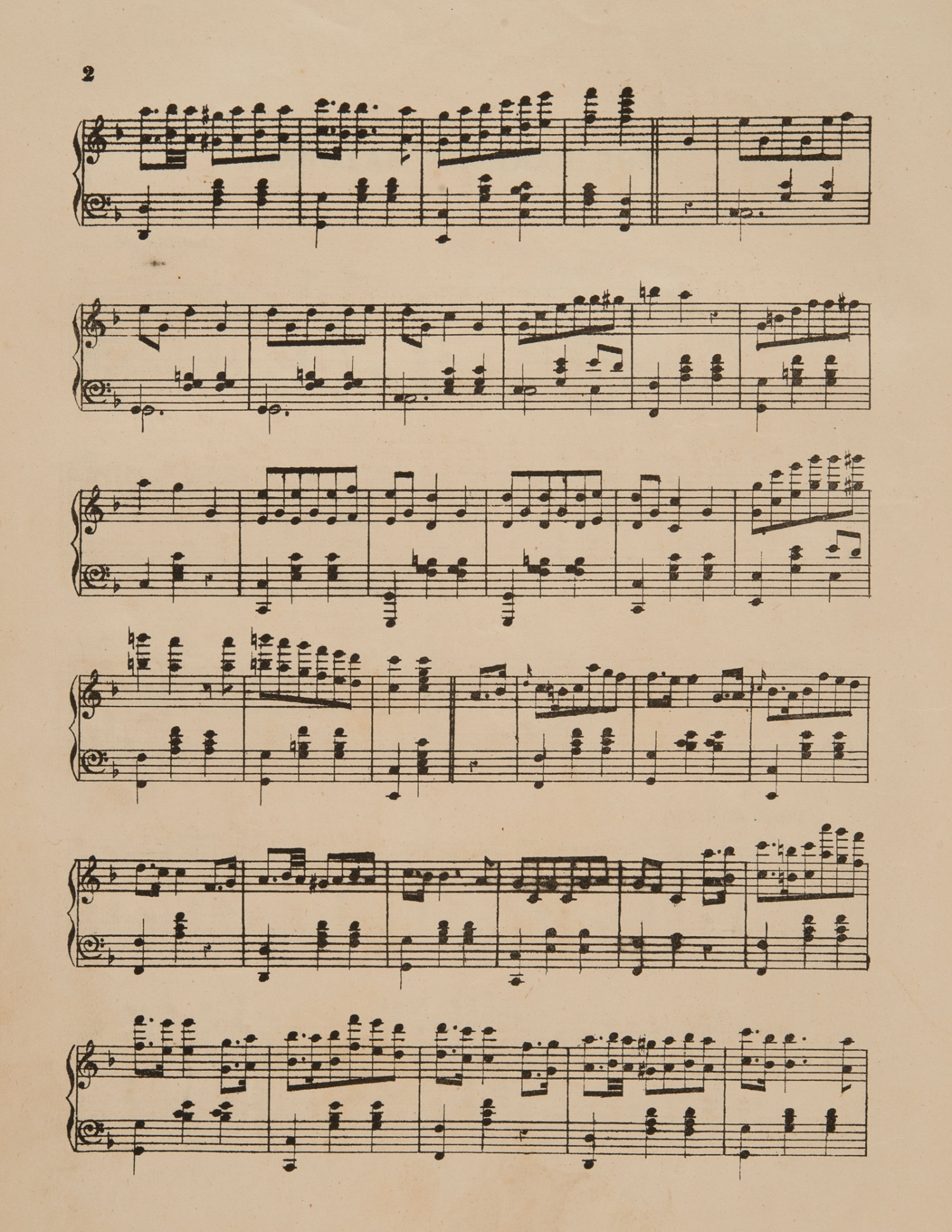 Sheet music, 'The Barham Mazurka', composed by Louise N, page 2, published 1876