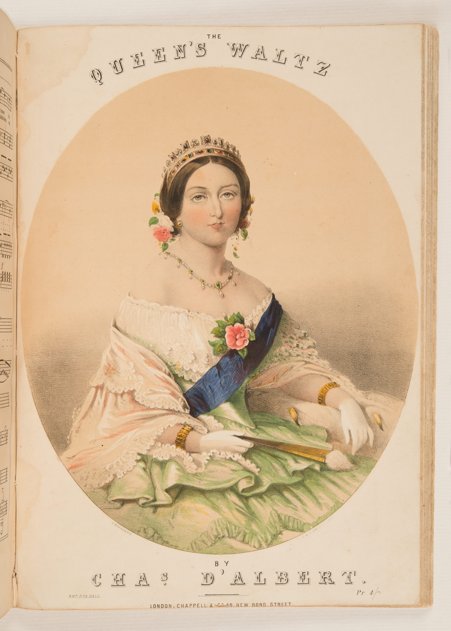 Cover of sheet music, 'The Queen's Waltz', by Charles D'Albert, published 1857