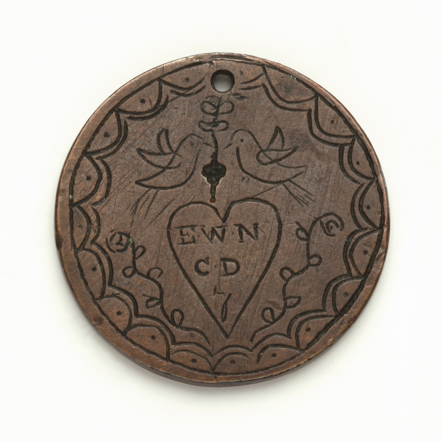 Convict love token, inscribed in 1825