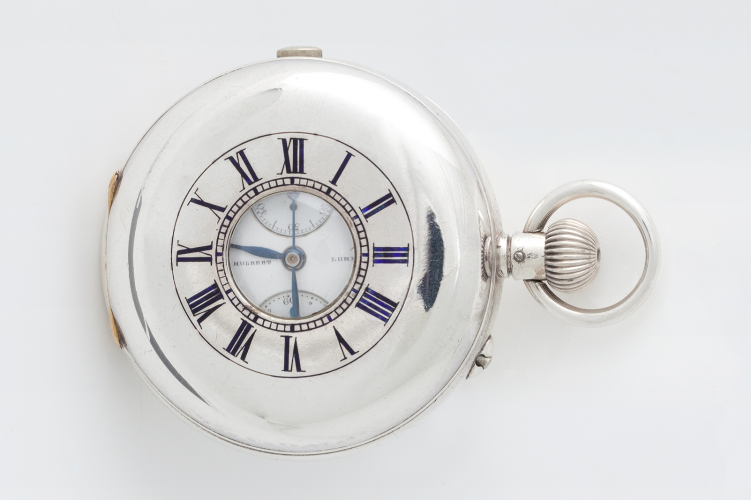 Silver cased half hunter watch owned by George Terry, made 1880