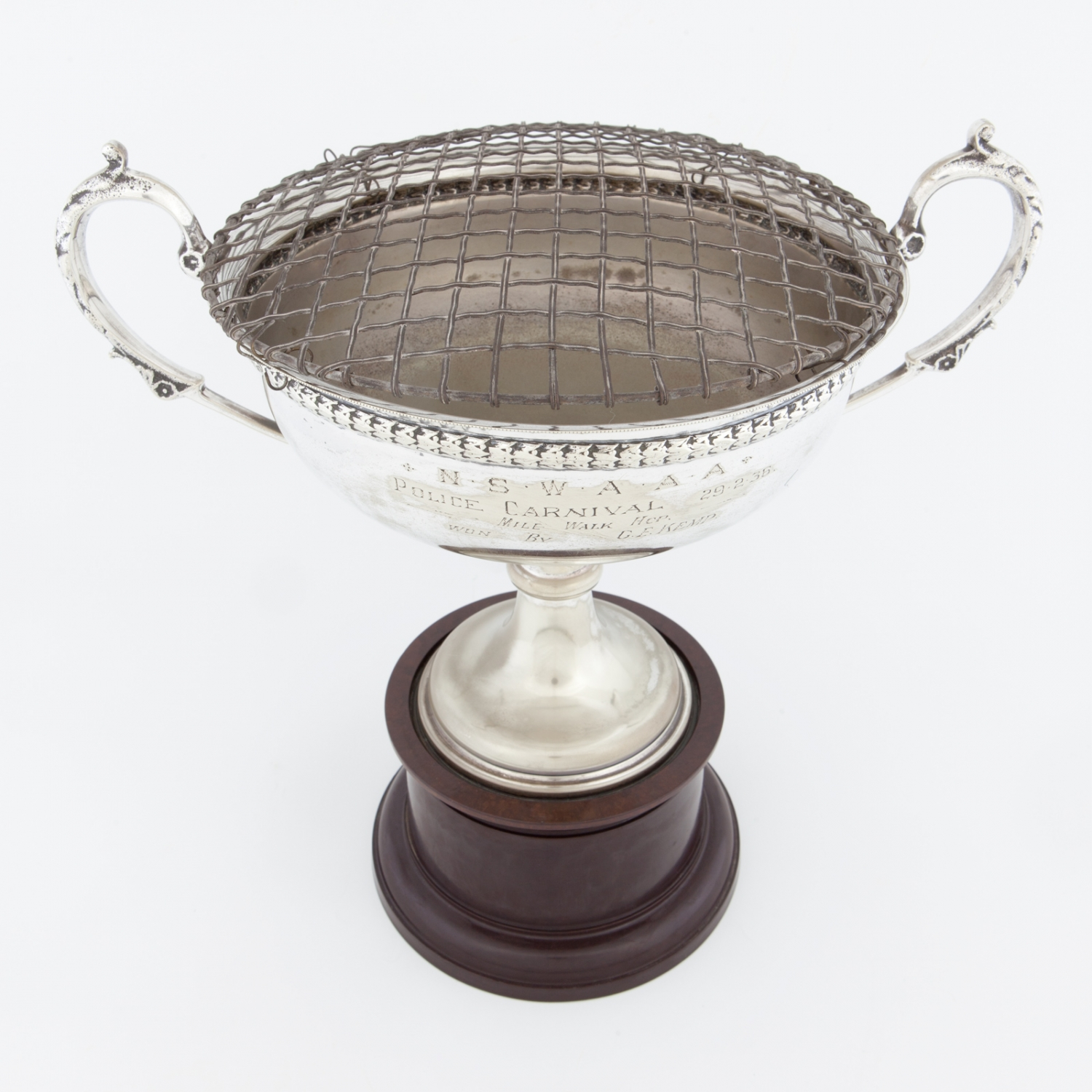 Trophy for the One Mile Walk, NSW A.A.A Police Carnival, won by Mr G E Kemp, 1936