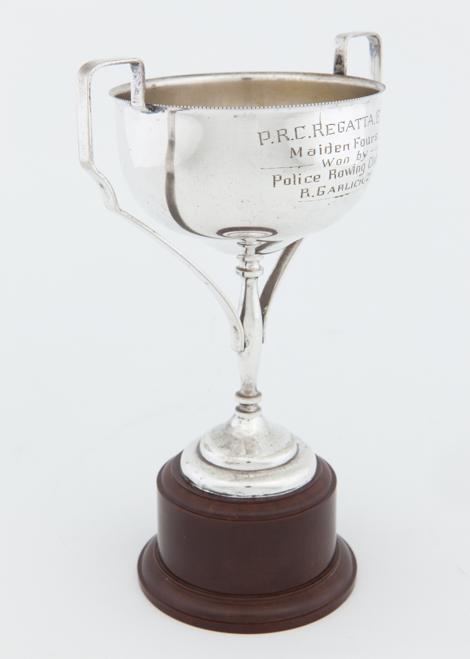 Trophy awarded to the Police Rowing Club for Maiden Fours, P.R.C. Regatta, 1935