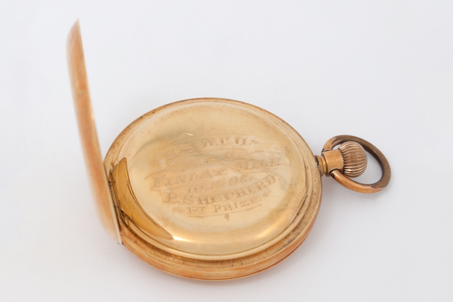 Gold pocket watch which belonged to a police officer, Sgt Percival Shepherd