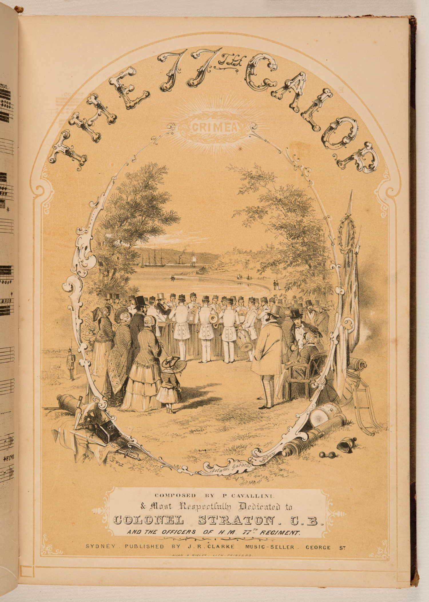 Sheet music, 'The 77th Galop', by P. Cavallini, published 1858