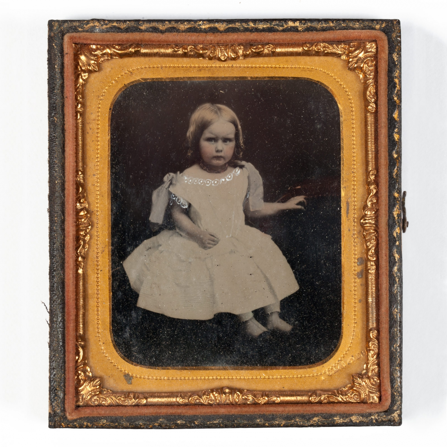 Ambrotype of a young child, around 1863