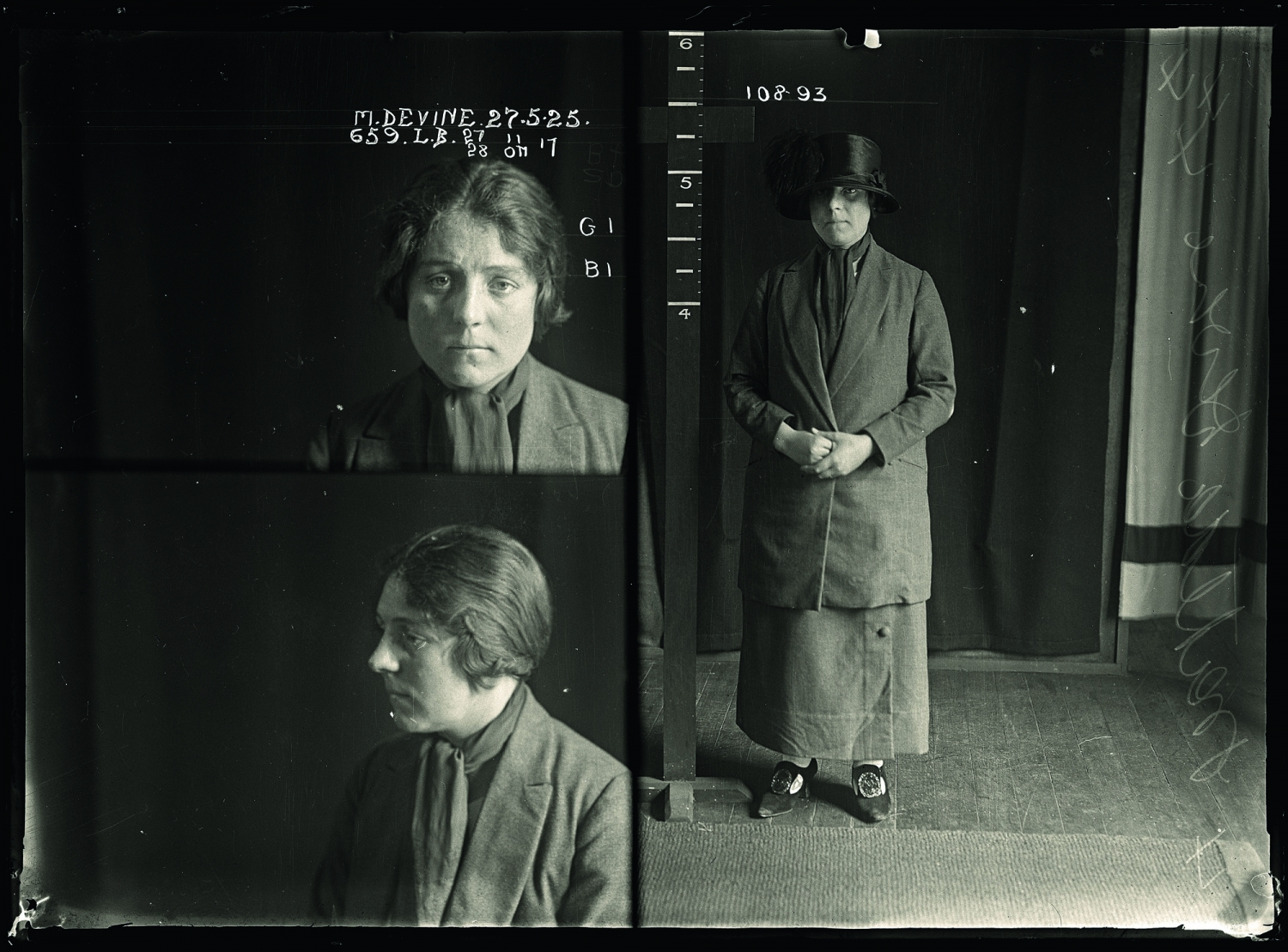 Mugshot of Matilda Devine 27 May 1925. State Reformatory for Women, Long Bay, NSW