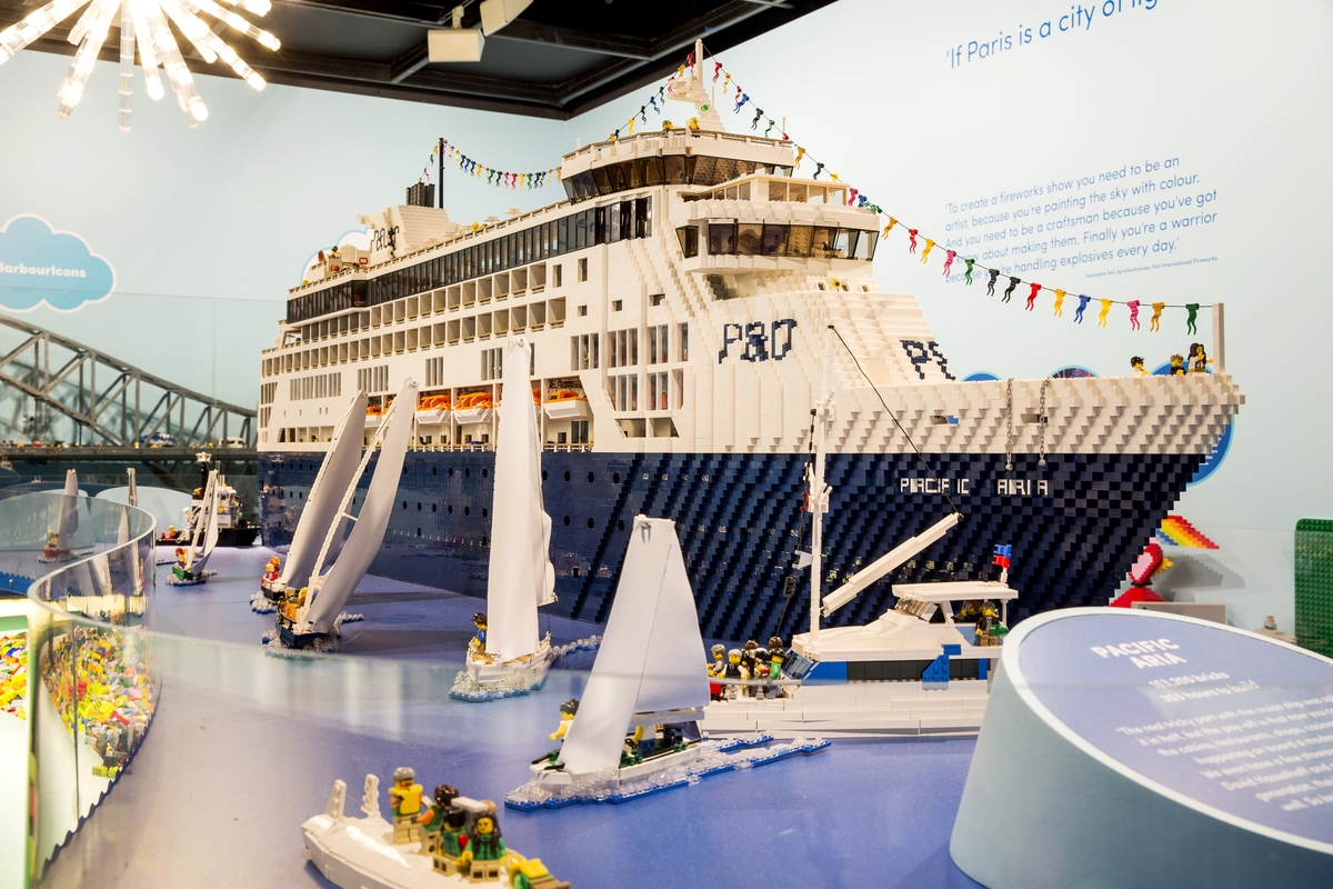 Giant Lego P&O cruise Ship