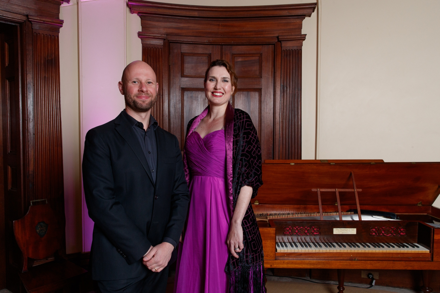 Thomas Johnson and Jane Ede at the Bel Canto in the Bush recital