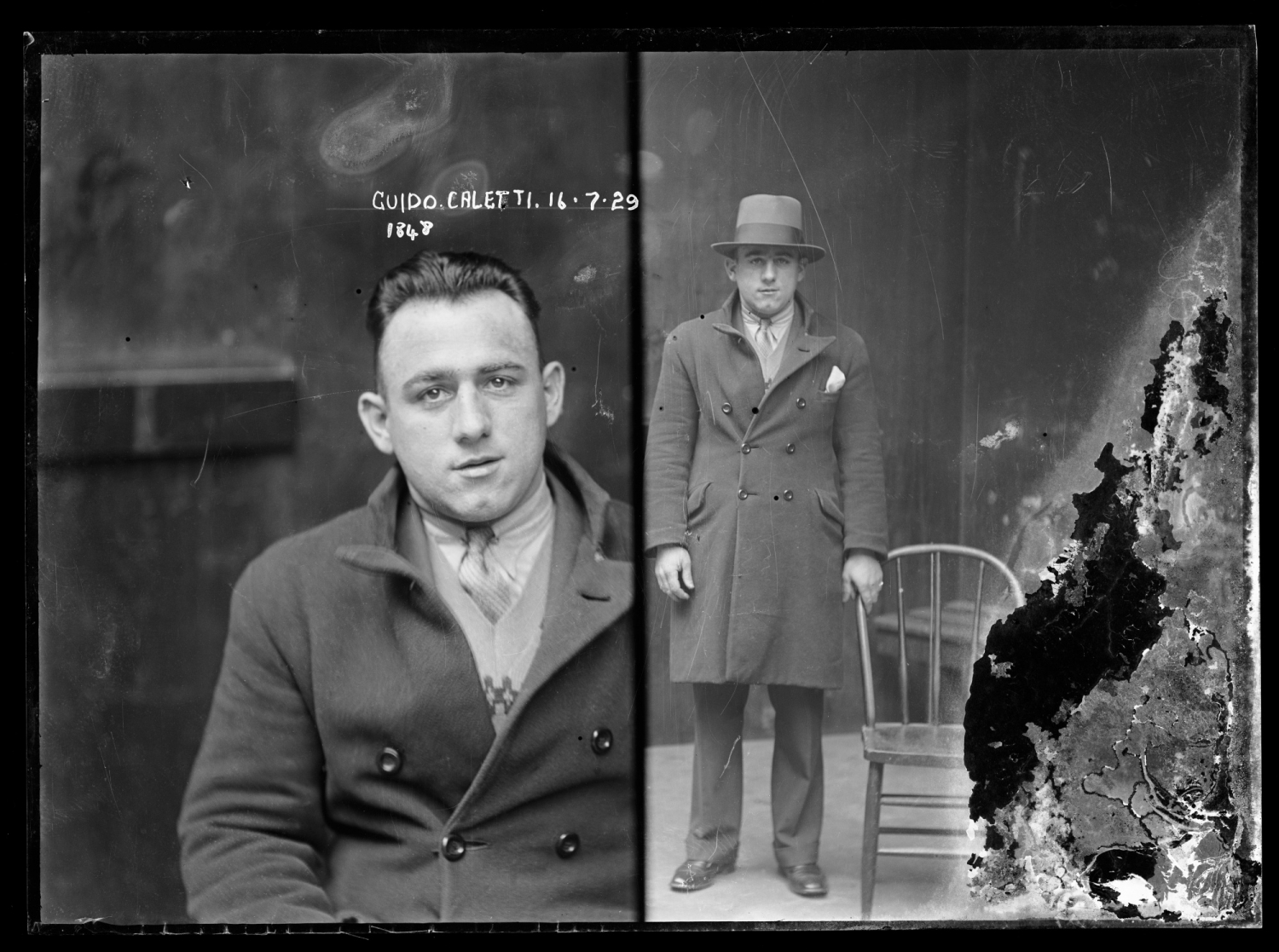 Guido Calletti, Special Photograph number 1848, 16 July 1929, Central Police Station, Sydney.