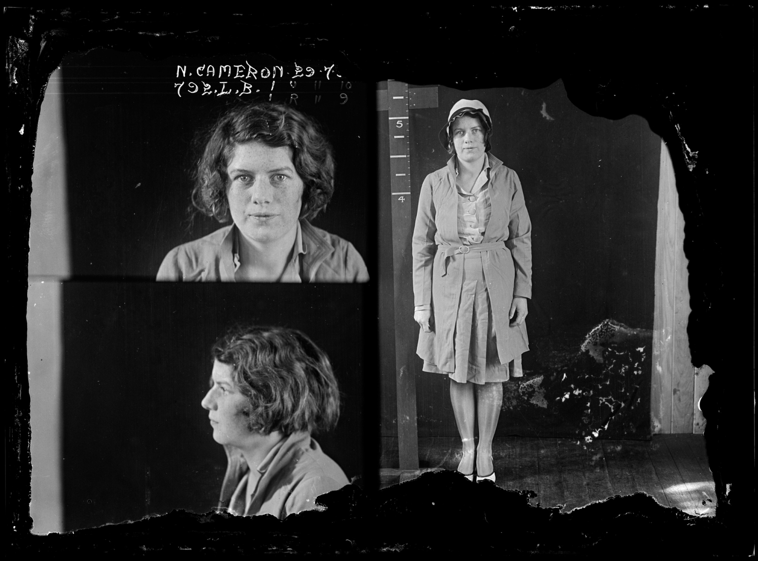 Nellie Cameron, criminal record number 792LB, 29 July 1930. State Reformatory for Women, Long Bay, NSW
