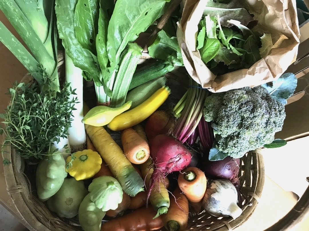 Selection of fresh produce.