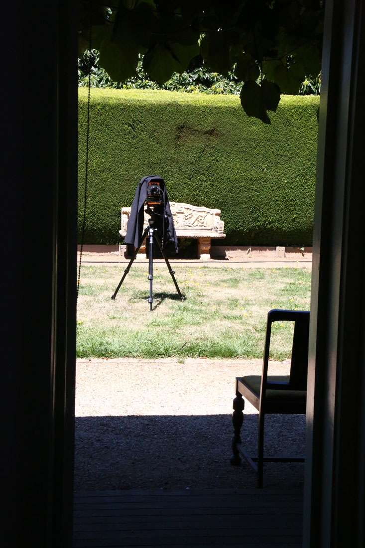 Using large format camera to photograph view camera.
