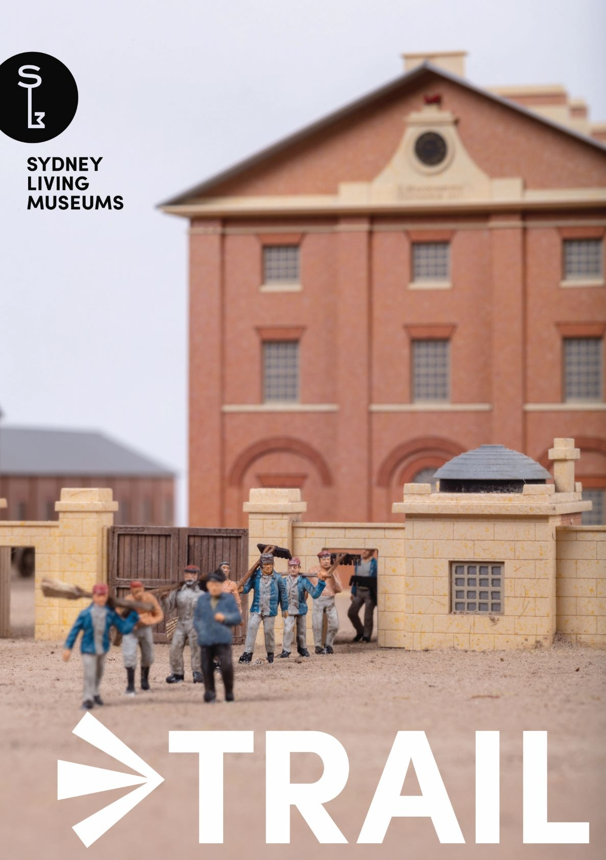 Cover of booklet showing brick barracks building.