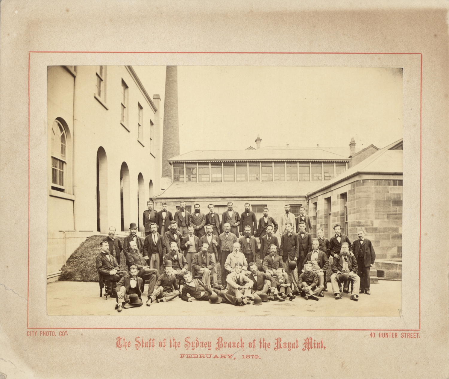 One of a collection of 7 loose photographs relating to the Sydney Mint.