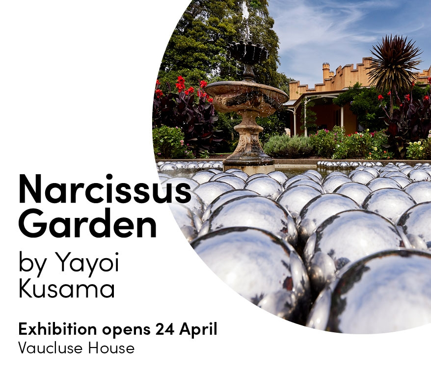 Narcisuss Garden by Yayoi Kusama at Vaucluse House