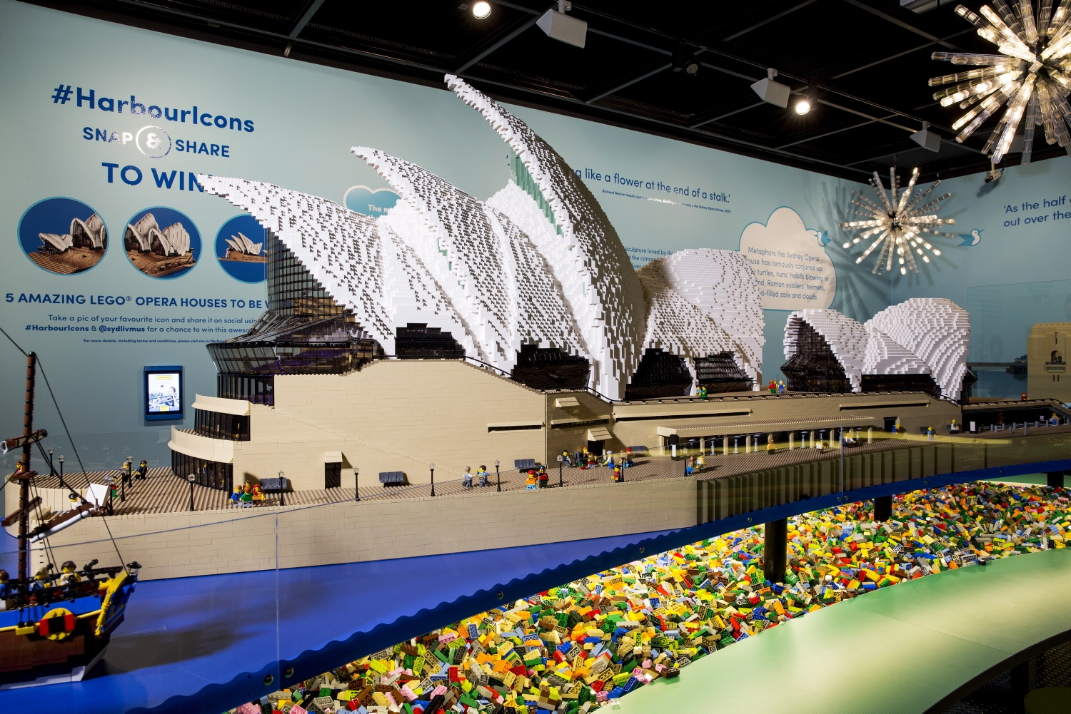 large scale lego model of sydney opera house