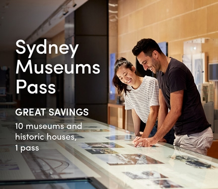 Promo tile linking to Sydney Museums Pass page.