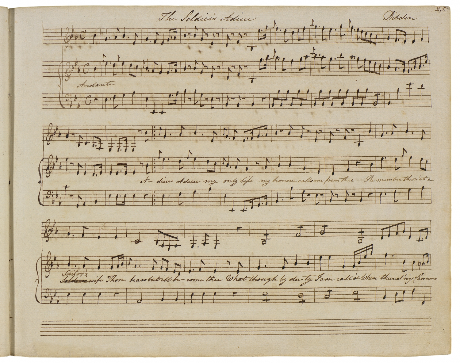Page of handwritten music.