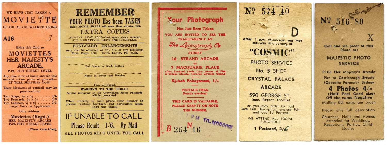 Selection of Sydney street photography cards, 1930s-1950s.
