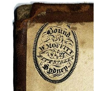 William Moffitt binders label