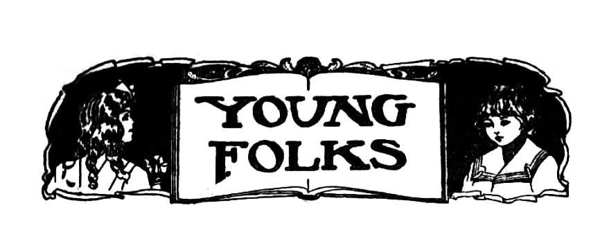 Black and white newspaper masthead reading 'Young Folks'