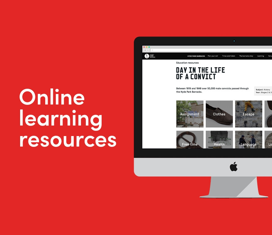 Sydney Living Museums online learning resources