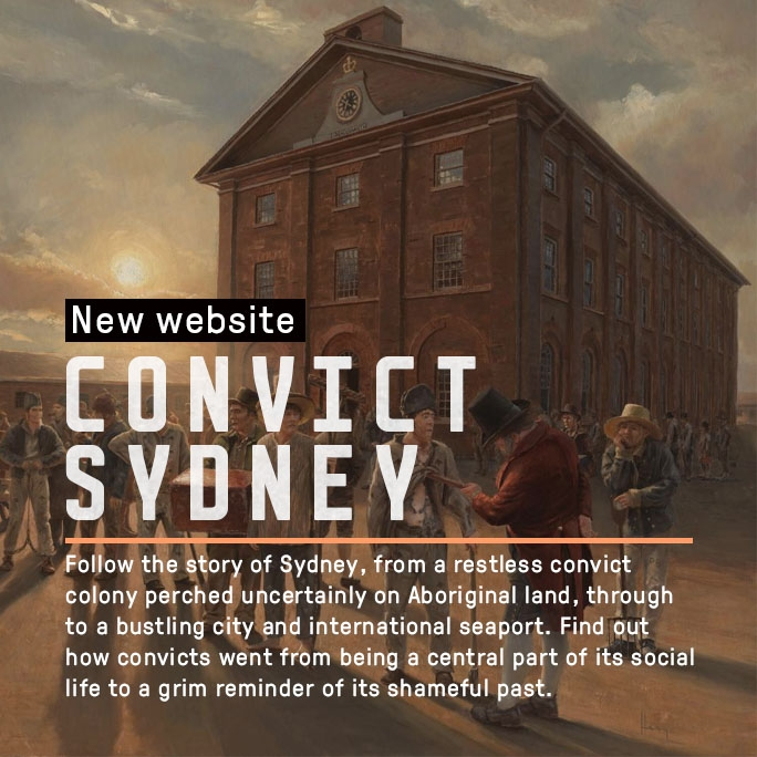 Promotional banner for Convict Sydney website