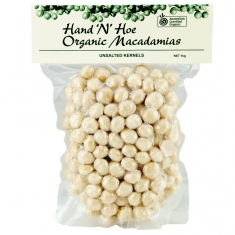 Packet of macadamia nuts.