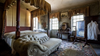 The principal bedroom at Rouse Hill House & Farm.