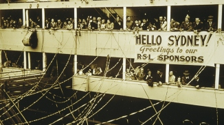 Migrant arrivals in Australia, 1947.