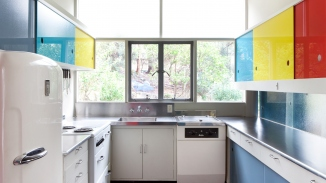 The kitchen in Rose Seidler House