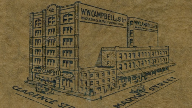 W W Campbell & Co's city store